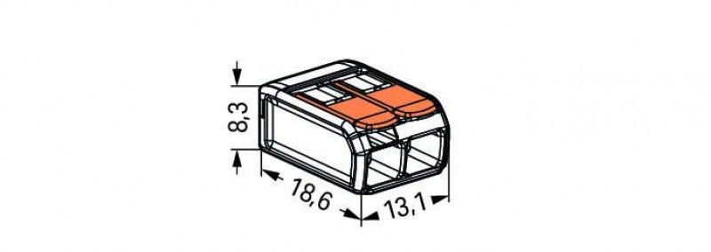 Клема WAGO 221-412