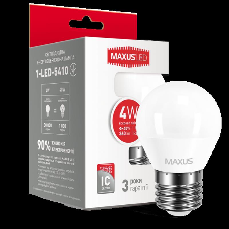 LED лампа Maxus G45 4W яскраве світло E27