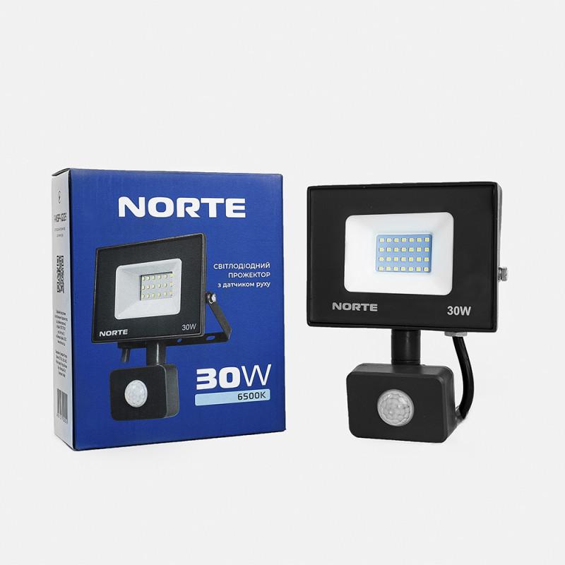Прожектор NORTE 30W 6500  з датчиком руху
