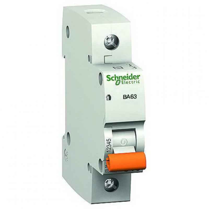 Автоматичний вимикач ВА63 1P 25А С