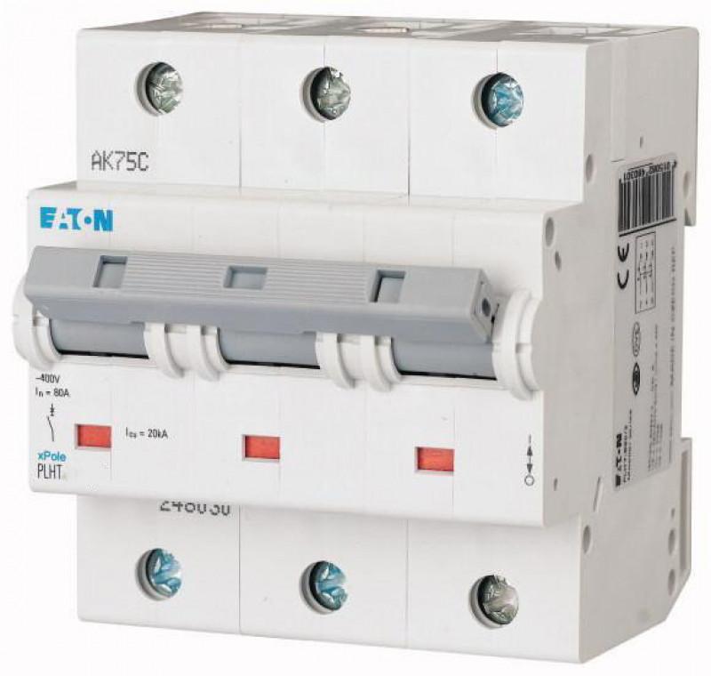 Автоматичний вимикач EATON PLHT-C80/3 3P 80А