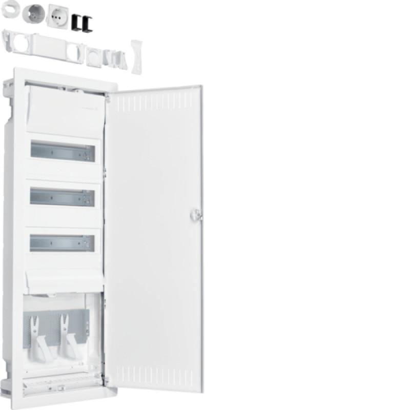 Volta.Hybrid: щит в/у, 36мод. + 1 панель для ММ, сталеві двері hager