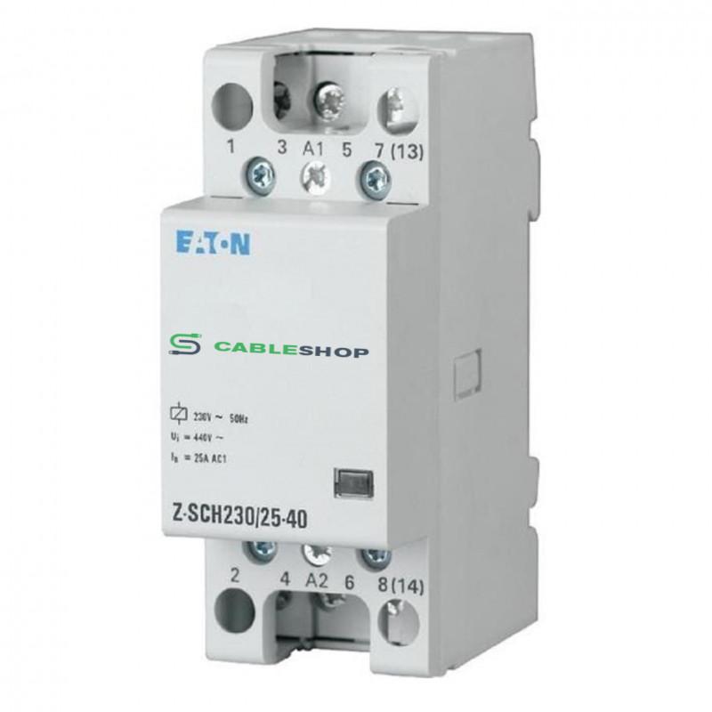 Контактор EATON Z-SCH230/25-40 4Р 25А 4НО