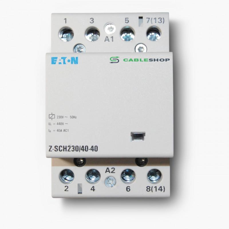 Контактор EATON Z-SCH230/40-40 4Р 40А 4НО