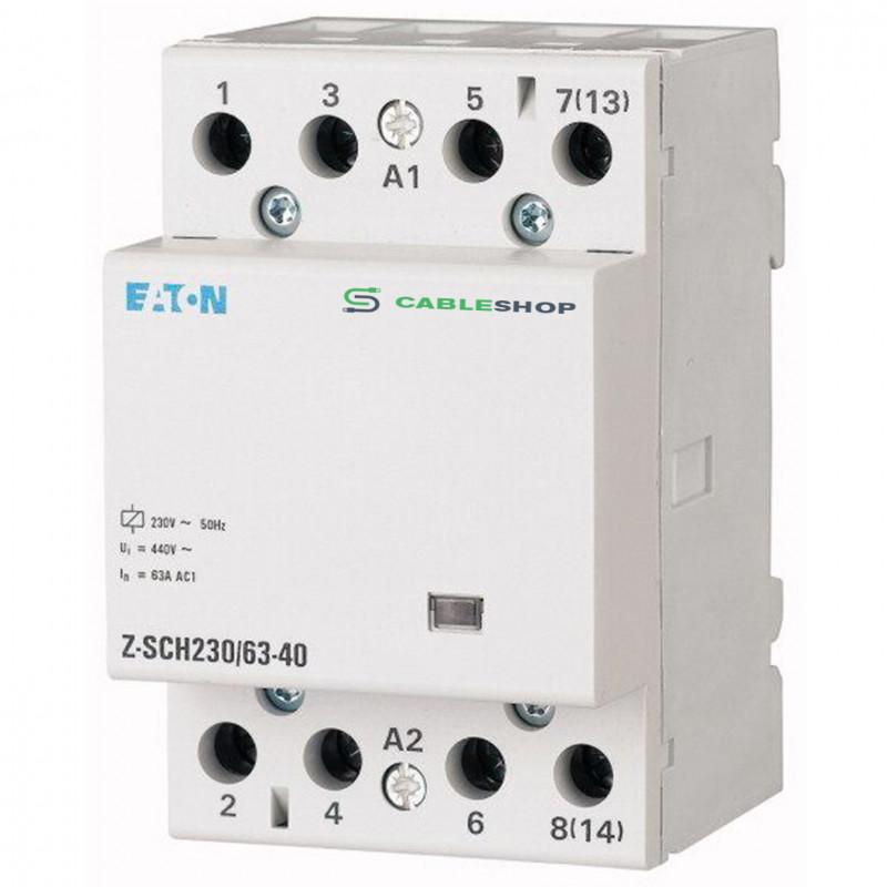Контактор EATON Z-SCH230/63-40 4Р 63А 4НО