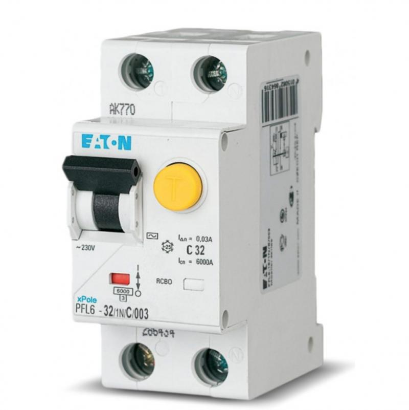 Диф. автомат EATON PFL6-C32/1N/003