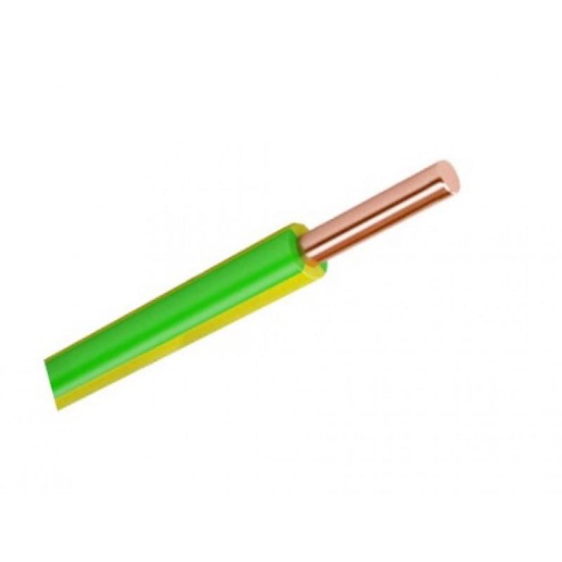 Провід ЗЗКМ ПВ1 6 жовто-зелений
