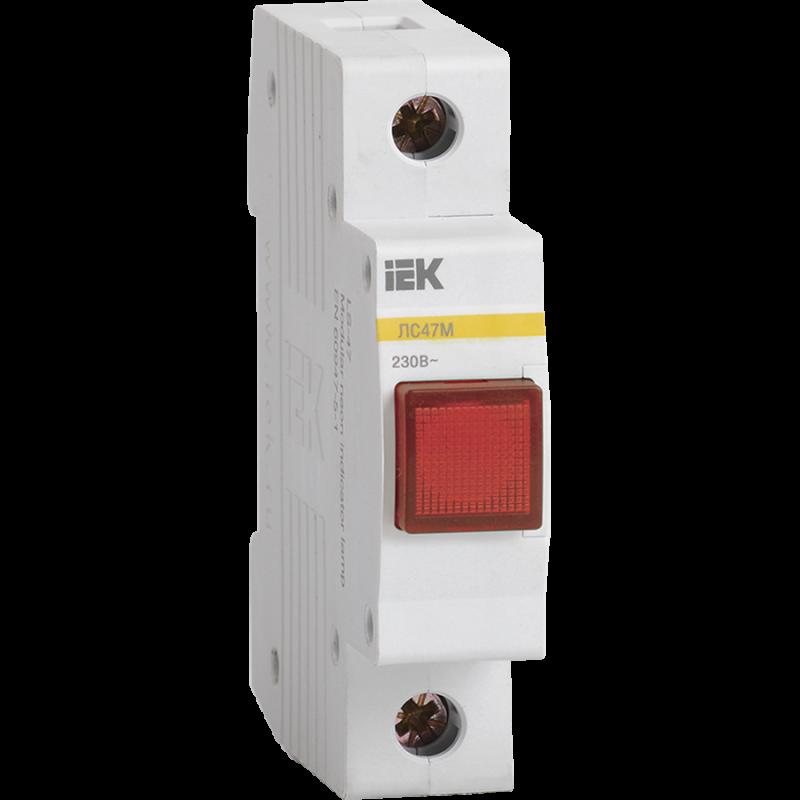 Сигнальна лампа ЛС-47М (червона) (матриця) IEK