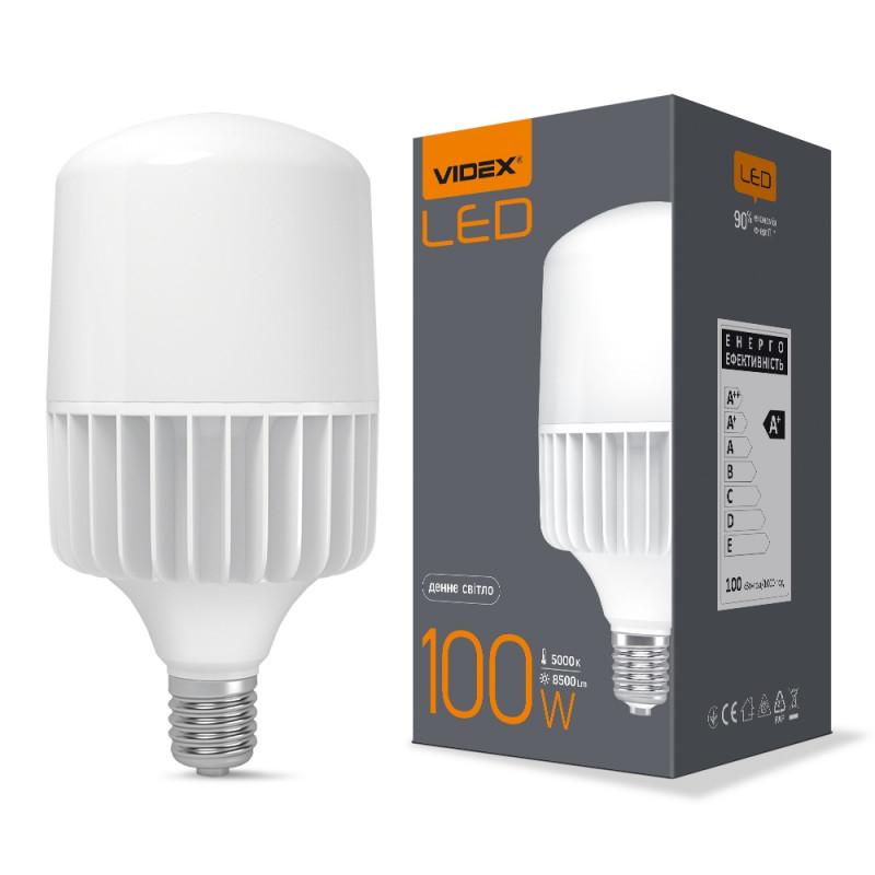 Лампа VIDEX A145 100W E40 5000K 220V