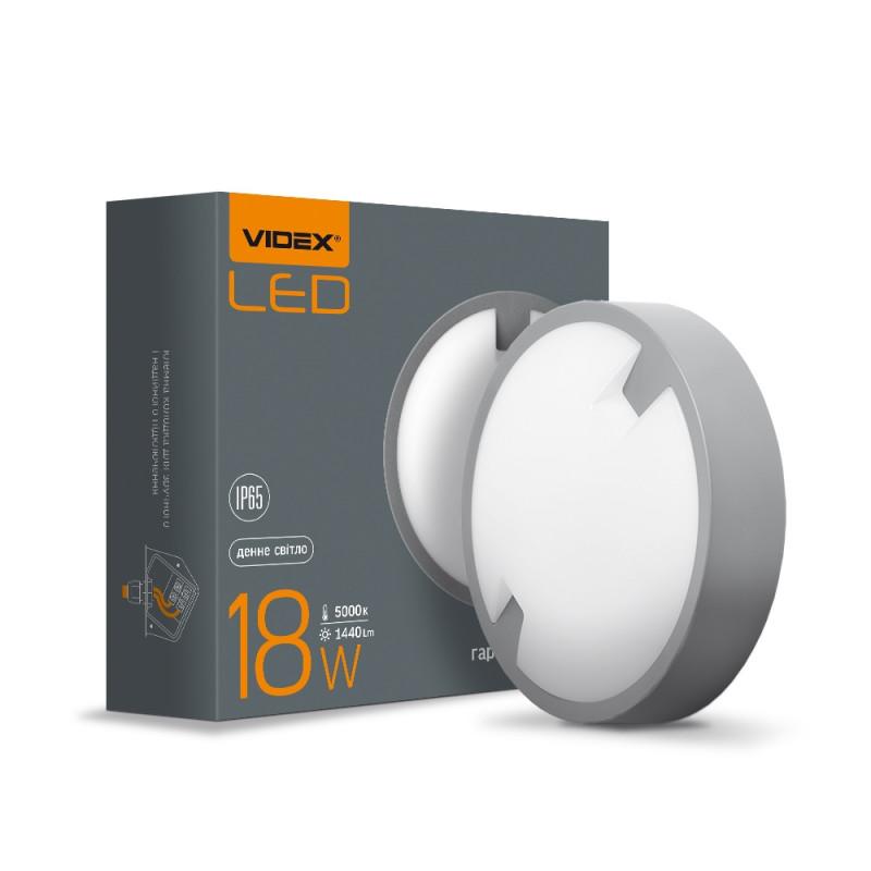 LED світильник IP65 круглий VIDEX 18W 5000K