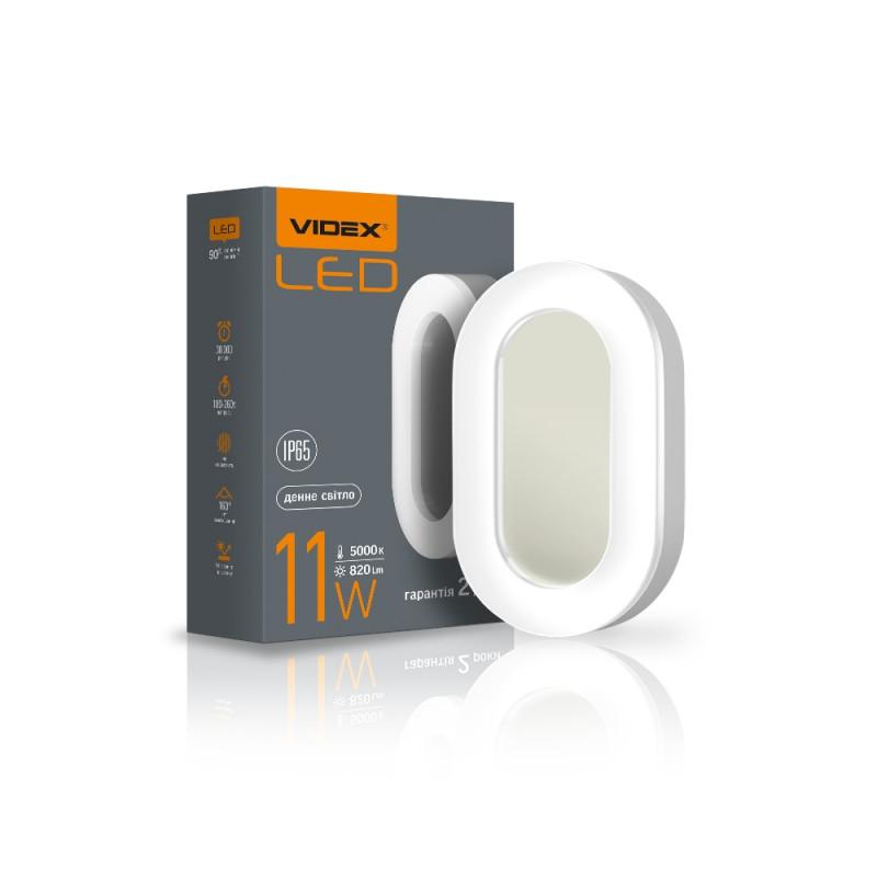 LED світильник ART IP65 овальний VIDEX 11W 5000K